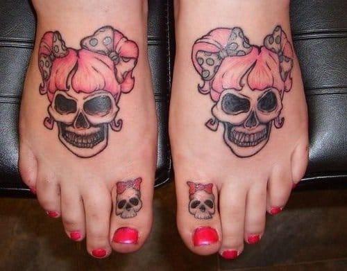 Skull Toe Tattoo