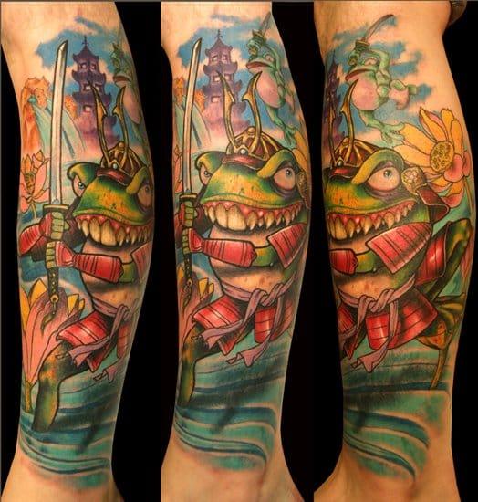 Ed Perdomo created this awesome fantasy samurai frog
