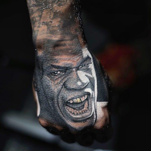 Mike Tyson hand piece done by Nikko Hurtado