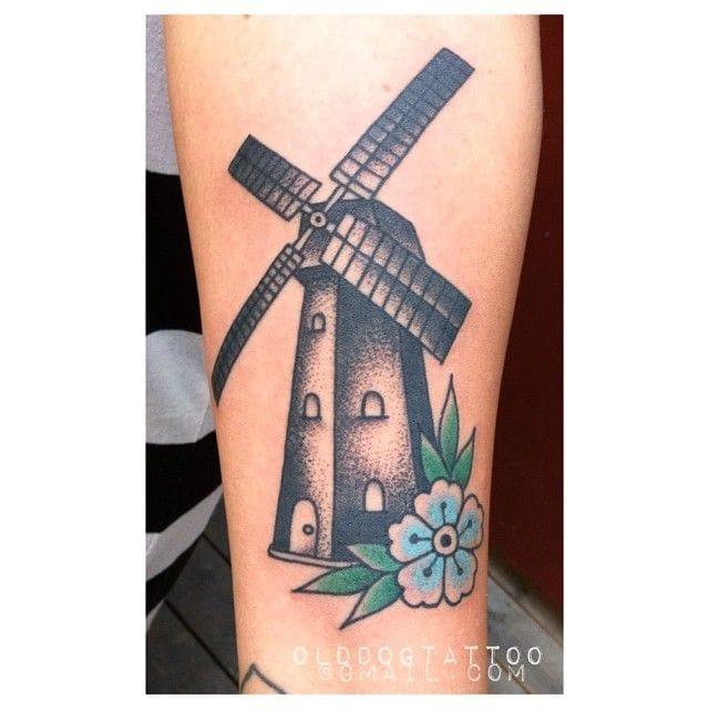 Beautiful Windmill Tattoo