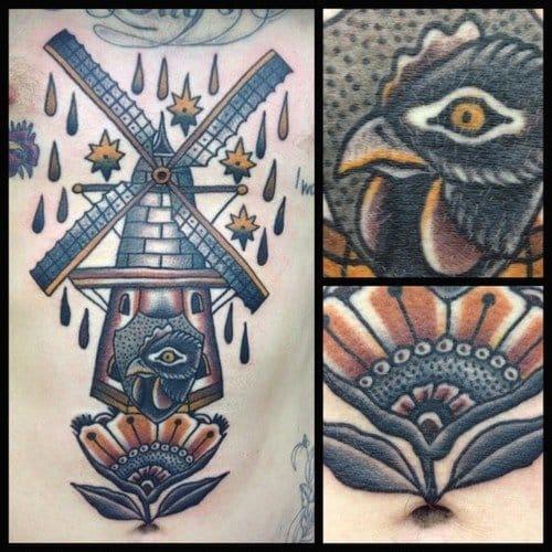 Dark windmill by Salvation Tattoo