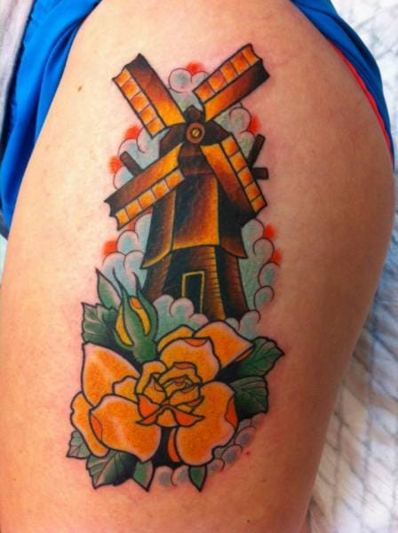 Mill Old School Tattoo by Salvation Gallery