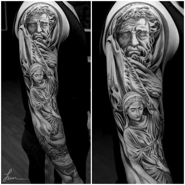 Awesome tattoo by Jun Cha
