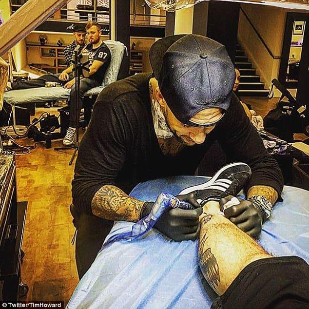 Tim Howard Is Raising His Tattoo Game!