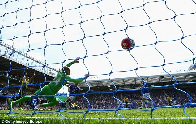 Howard's safe hands couldn't stop Everton conceding two goals!