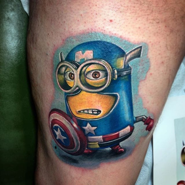 Now, this is one minion tattoo we can forgive.