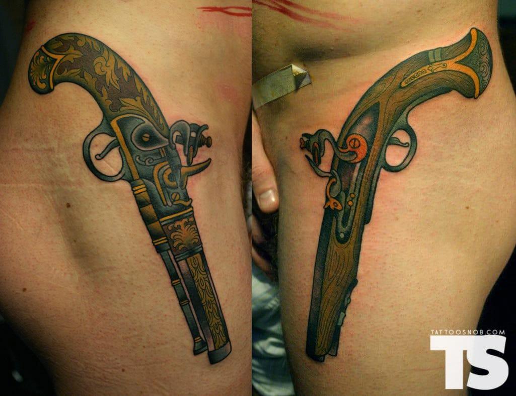 15 resolute flintlock pistol tattoos tattoodo. Black Bedroom Furniture Sets. Home Design Ideas