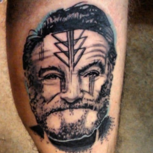 """Artist: Heart and Soul Tattoo Shop  """"I used to think that the worst thing in life was to end up alone. It's not. The worst thing in life is to end up with people who make you feel alone.""""  -Robin Williams"""