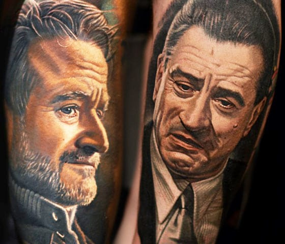 Artist: Nikko Hurtado (Robin Williams and Robert DeNiro)