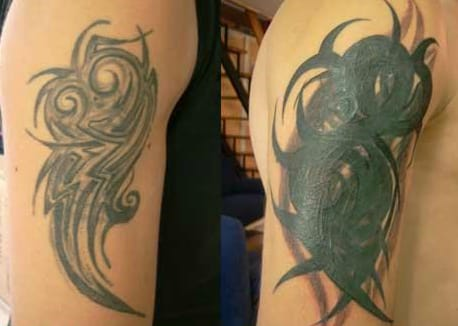 Didn't want to lighten your tattoo & wanted something not much bigger? Here you go...