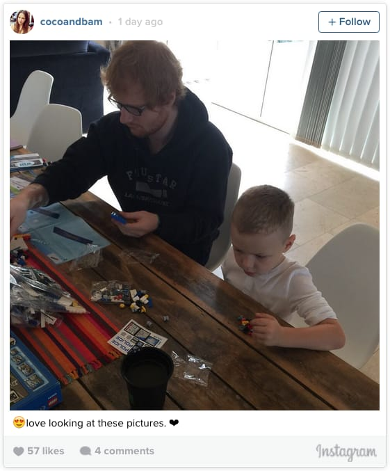 Building Lego with Ed Sheeran