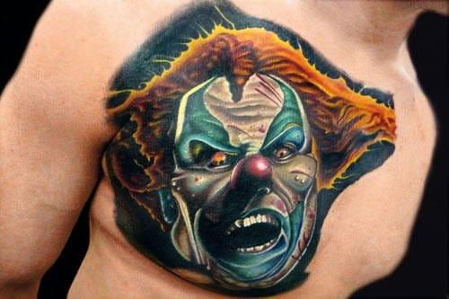 Tatuagens de Palhaços: 13 Fotos Para Alimentar Sua Coulrofobia!