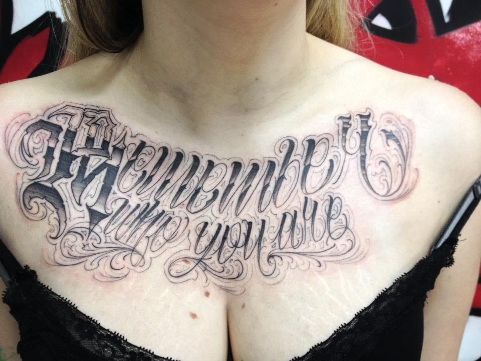 Lettering: 14 Tatuagens Com Letras Únicas E Complexas