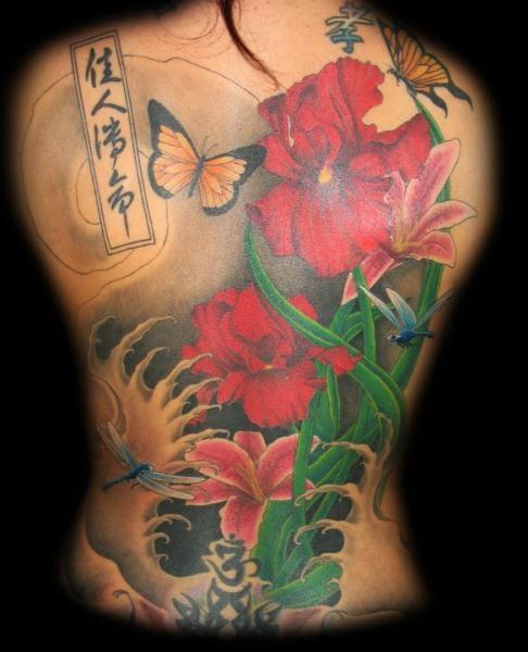 22 Enticing Oriental Flower Tattoos
