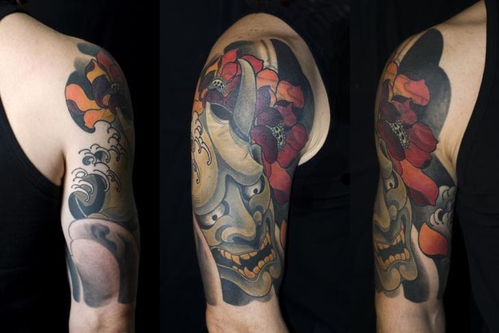 Demon Flower Tattoo by Shane Tan