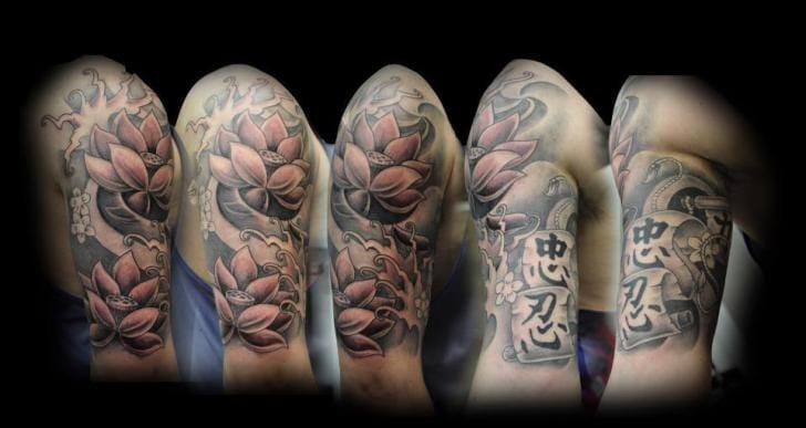 Flower Tattoo by Triple Six Studios