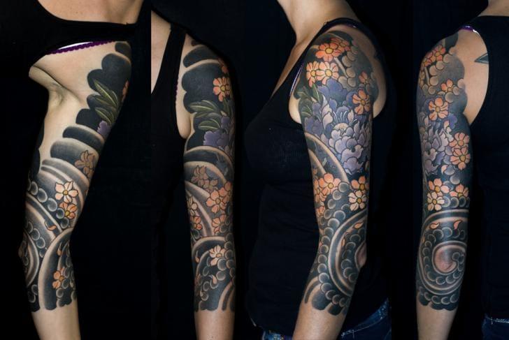 Japanese Flower Tattoo by Shane Tan