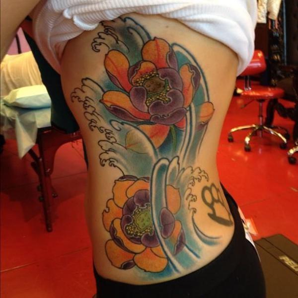 Oriental Flower Tattoo, artist unknown