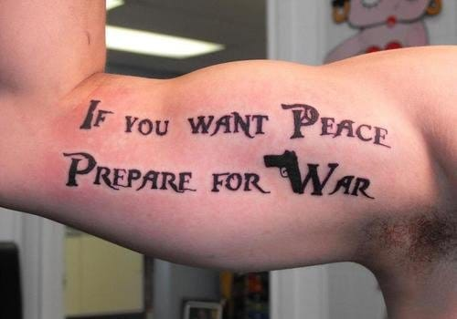 """""""Se você quer paz. Se prepare para a guerra"""" #poWpoWpoW"""