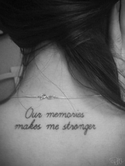 """""""Nossas memórias me tornam mais forte"""""""