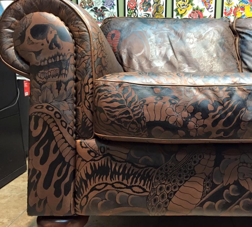 Who Wouldn't Want This Tattooed Sofa In Their Home?