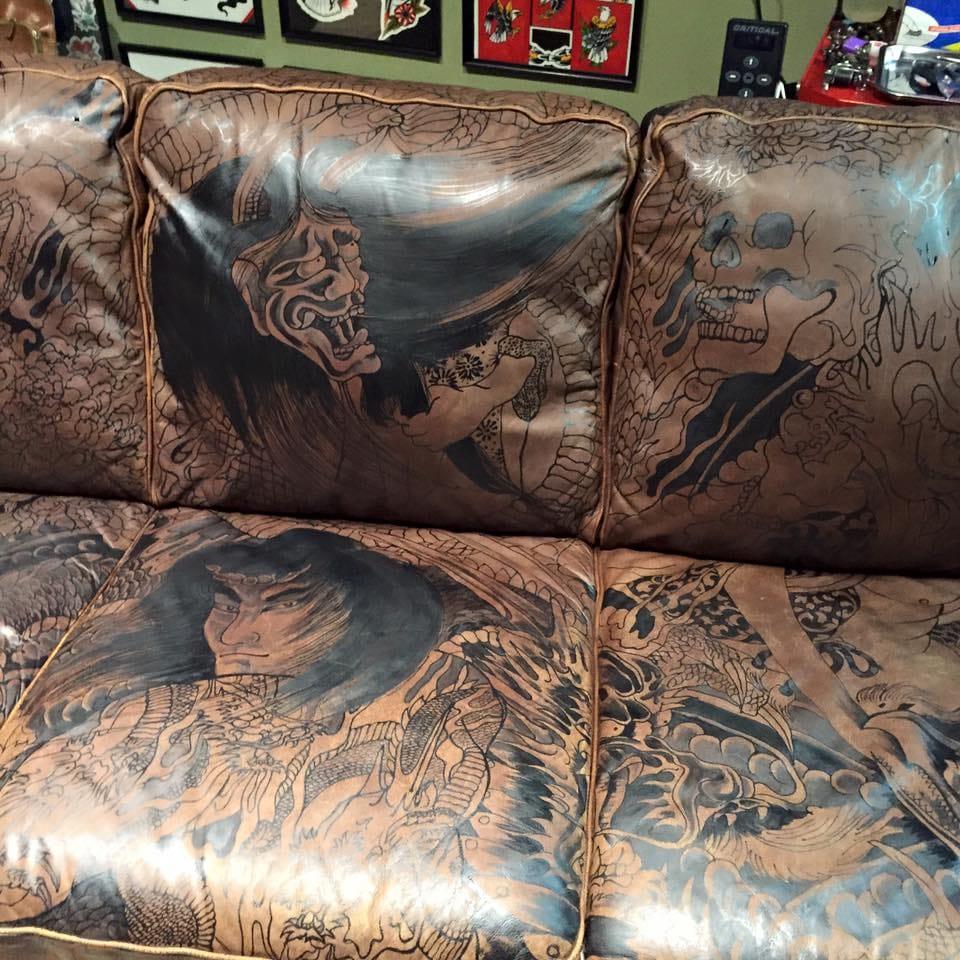 tattooed sofa gina mcqueen