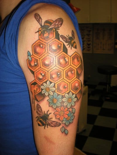 Bee Hive Tattoo by Kings Avenue