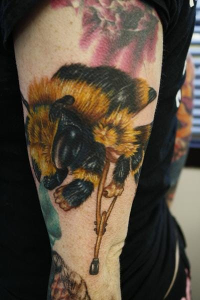 Realistic Bee Tattoo by Left Hand Path