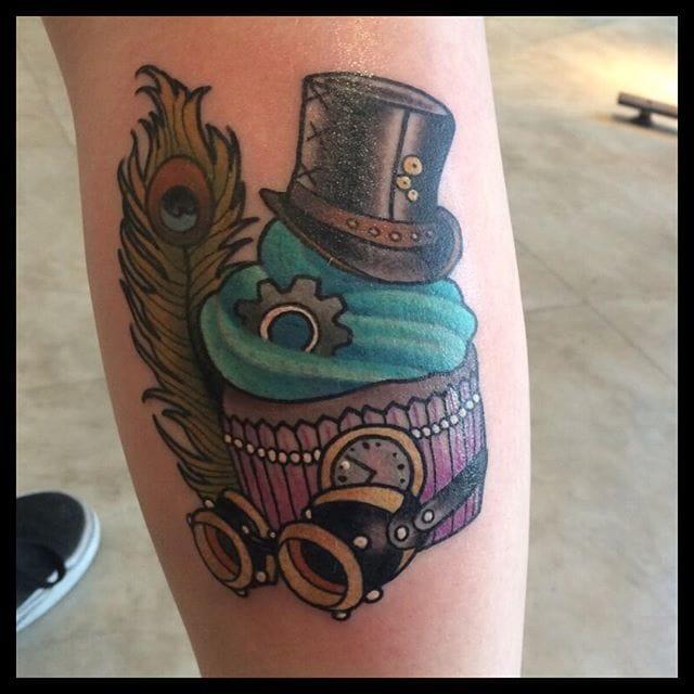 Steampunk cupcake! By Daryl Watson.