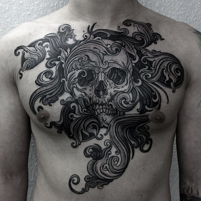 Awesome skull and filigrees...