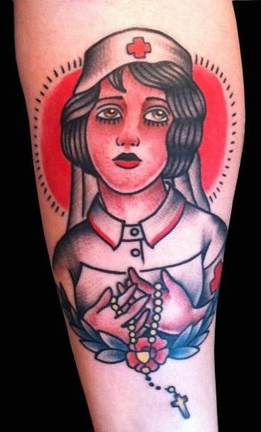 Adam Lauricella - Traditional Nurse Tattoo