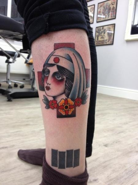 Nurse Tattoo by Three Kings Tattoo