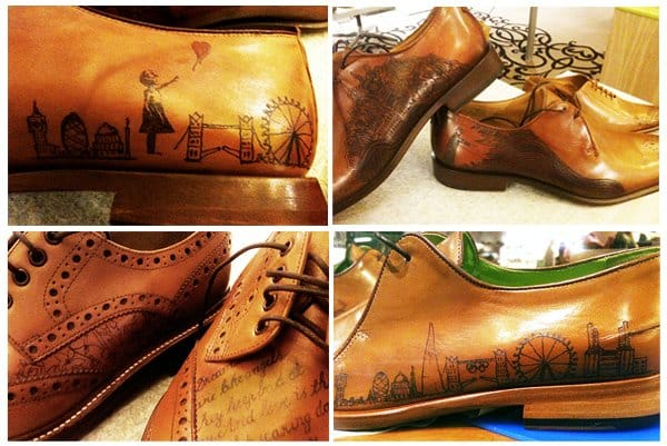 Oliver Sweeney tattooed shoes