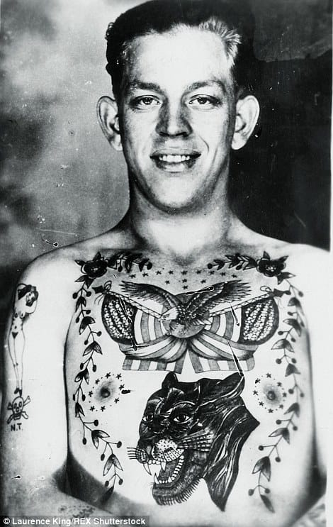 David McComb book, 400 photographs of tattoos from the last century