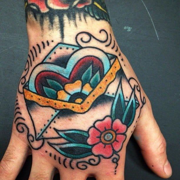 love letter hand tattoo #loveletter #lovelettertattoo #lettertattoo