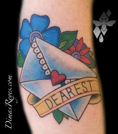 'Dearest' by Dimas Reyes #dimasreyes #loveletter #lovelettertattoo #lettertattoo