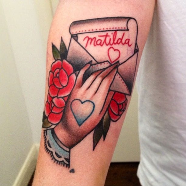 Love Letter Tattoo, Love Letter for Matilda #loveletter #lovelettertattoo #lettertattoo