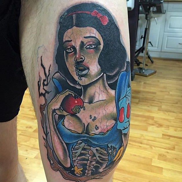 Zombie Snow White by Gary Dunn...