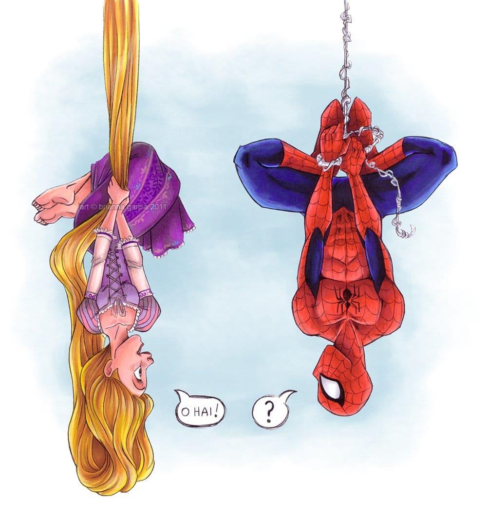 Rapunzel meets Spiderman... By Brianna Garcia.