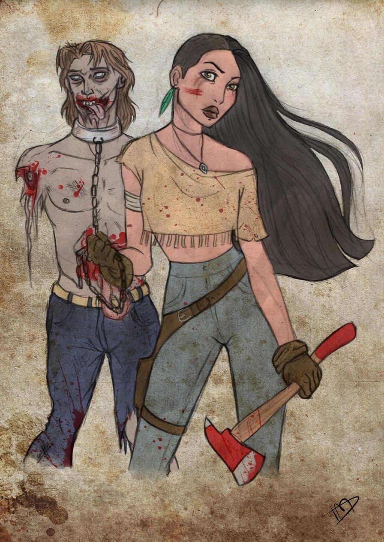 Geeky Walking Dead cross-over by Kasami Sensei.