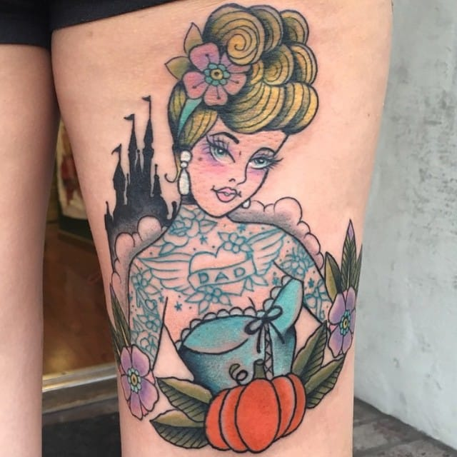 Tattooed pin-up by Kelly McMurray.
