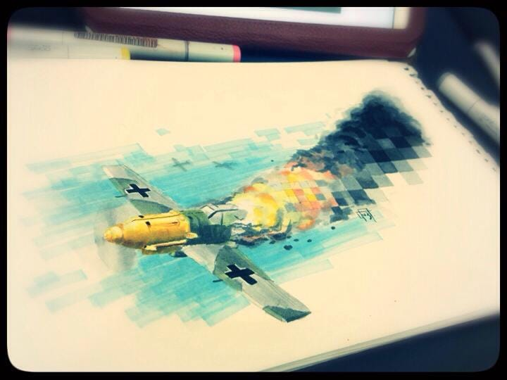Moço, tem um avião no seu incêndio