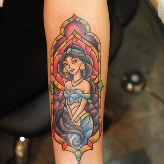 Stained glass tattoo by Bang-Bang.