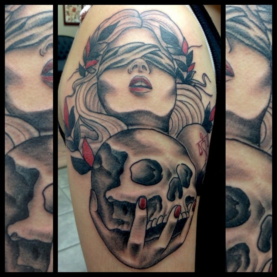 Tattoo Lady Justice: 15 Virtuous Lady Justice Tattoos