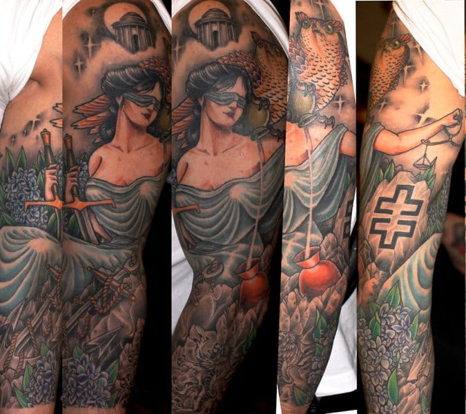 15 Virtuous Lady Justice Tattoos | Tattoodo