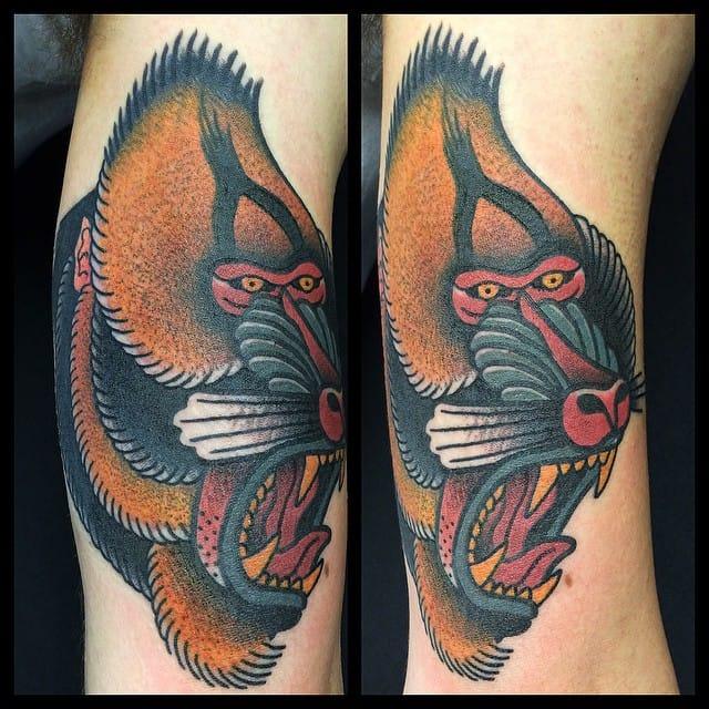 Mandrill tattoo