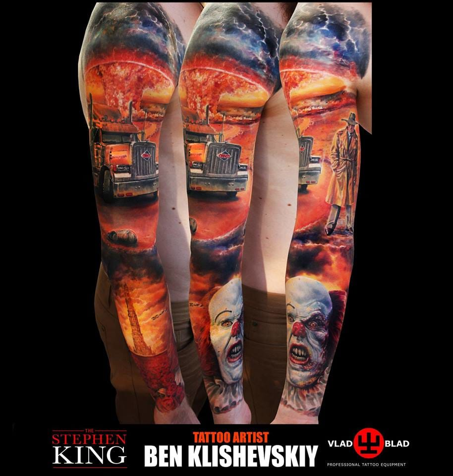 Out of this world Stephen King themed sleeve! Fantastic work!