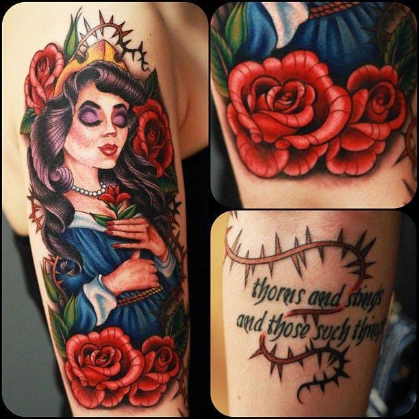 A dark version done by Megan Massacre during NY Ink.