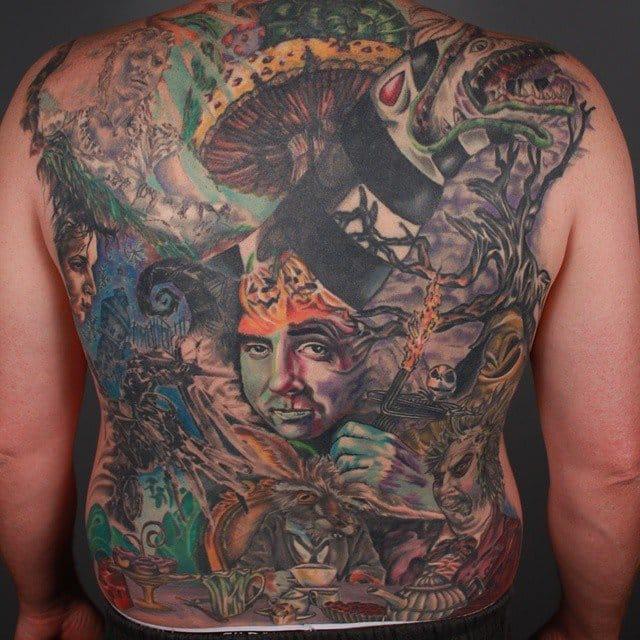 Impressive tribute backpiece by Ryan Sketch Martin...