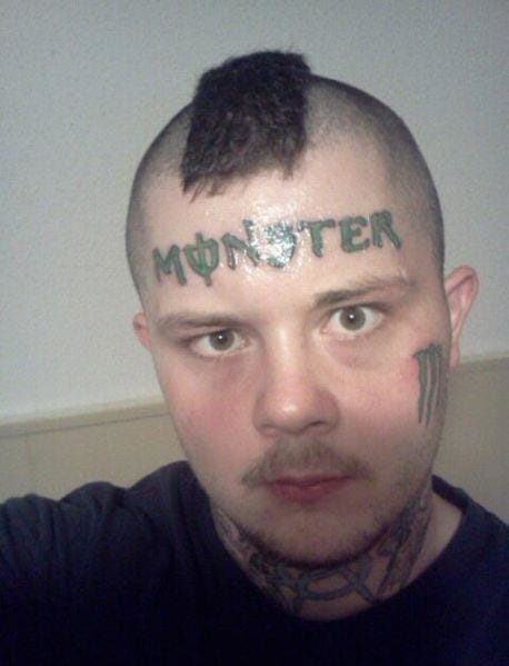 Yep, certainly is a monster tattoo!